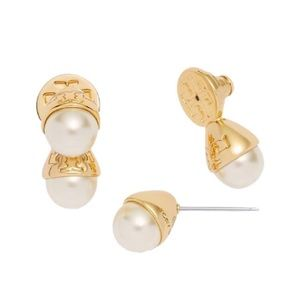 Tory Burch pearl bud front back earrings